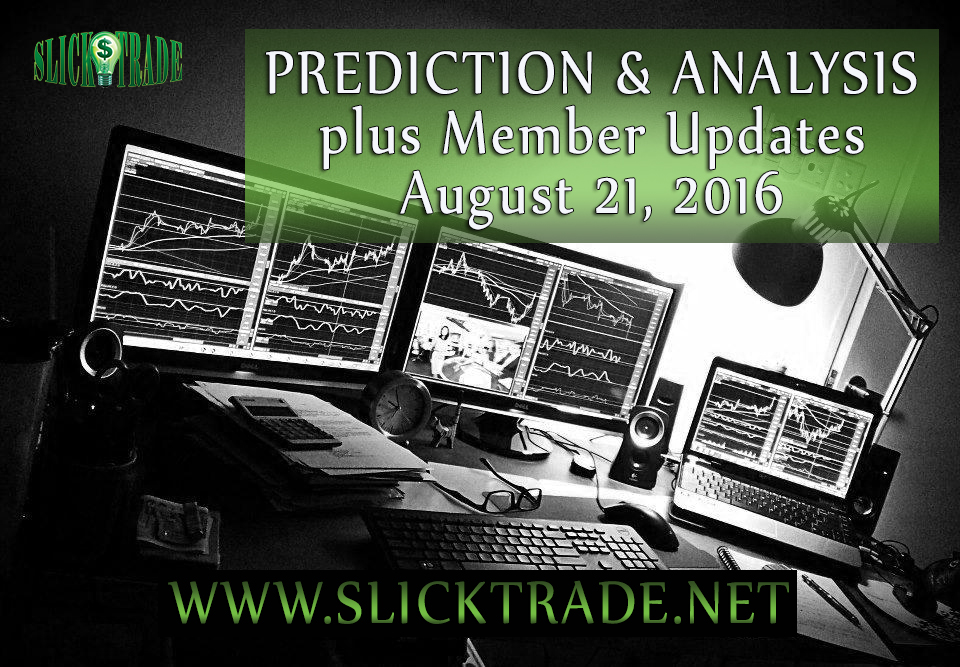 Prediction & Analysis Forex Trading August 21 2016
